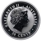 50 центов 2006, серебро (Ag 925) | Год Собаки — Австралия, фото 1
