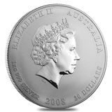 30 долларов 2008, серебро (Ag 925)   Год мыши — Австралия, фото 1