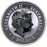 1 доллар 1999, серебро (Ag 925) | Год Кролика (золочение) — Австралия, фото 1