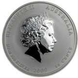 50 центов 2009, серебро (Ag 925) | Год Быка — Австралия, фото 1