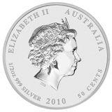 50 центов 2010, серебро (Ag 925) | Кенгуру (цветная) — Австралия, фото 1