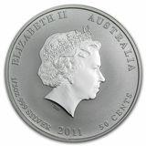 50 центов 2011, серебро (Ag 925) | Год Кролика — Австралия, фото 1