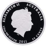 50 центов 2011, серебро (Ag 925) | Год Кролика (proof) — Австралия, фото 1