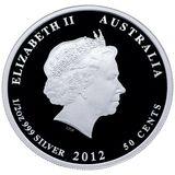 50 центов 2012, серебро (Ag 925) | Кукабара — Австралия, фото 1