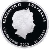 50 центов 2012, серебро (Ag 925) | Поссум — Австралия, фото 1