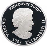 25 долларов 2007, серебро (Ag 925) | Ванкувер 2010: горные лыжи — Канада, фото 1