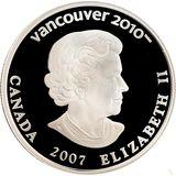 25 долларов 2007, серебро (Ag 925) | Ванкувер 2010: биатлон — Канада, фото 1