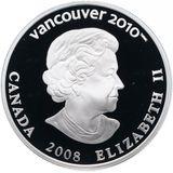 25 долларов 2008, серебро (Ag 925) | Ванкувер 2010: бобслей — Канада, фото 1