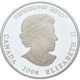 25 долларов 2008, серебро (Ag 925) | Ванкувер 2010: сноубординг — Канада, фото 1