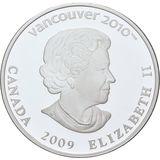 25 долларов 2009, серебро (Ag 925) | Ванкувер 2010: конькобежный спорт — Канада, фото 1