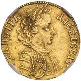 Червонец 1703, золото (Au 969) — Петр I, фото 1