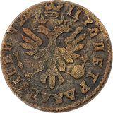 Полушка 1713, медь — Петр I, фото 1