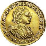 2 рубля 1721, золото (Au 781) — Петр I, фото 1