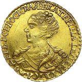 2 рубля 1727, золото (Au 781) — Екатерина I, фото 1