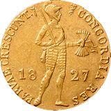 Дукат 1827, золото (Au 979) — Николай I, фото 1