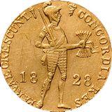 Дукат 1828, золото (Au 979) — Николай I, фото 1