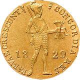 Дукат 1829, золото (Au 979) — Николай I, фото 1
