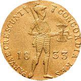 Дукат 1833, золото (Au 979) — Николай I, фото 1