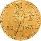 Дукат 1835, золото (Au 979) — Николай I, фото 1
