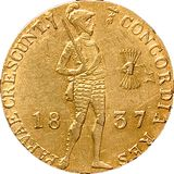 Дукат 1837, золото (Au 979) — Николай I, фото 1