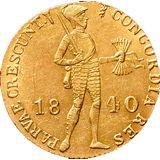 Дукат 1840, золото (Au 979) — Николай I, фото 1