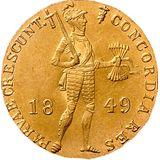 Дукат 1849, золото (Au 979) — Николай I, фото 1