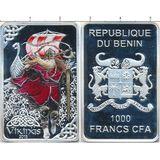 1000 франков 2015, серебро (Ag 925) | Викинг — Бенин, фото 1