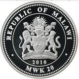 20 квача 2010, серебро (Ag 999) | Павловский дворец — Малави, фото 1