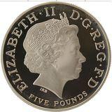 5 фунтов 2009, серебро (Ag 925) | Олимпиада в Лондоне 2012. Обратный отсчет 3 (56 г) — Великобритания, фото 1