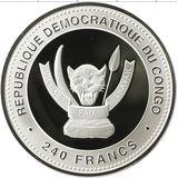 240 франков 2013, серебро (Ag 925) | Змея Лу — Конго, фото 1