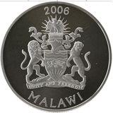 5 квача 2006, серебро (Ag 925) | Львы — Малави, фото 1