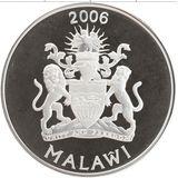 5 квача 2006, серебро (Ag 925) | Водопад — Малави, фото 1