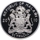 50 квача 2010, серебро (Ag 999) | Родина-мать — Малави, фото 1