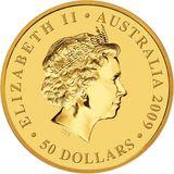50 долларов 2009, золото (Au 999) | Год Быка — Австралия, фото 1