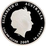 50 центов 2009, серебро (Ag 999) | Крылатка (рыба-лев) — Австралия, фото 1
