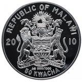 50 квача 2010, серебро (Ag 999) | Школа — Малави, фото 1