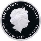 50 центов 2010, серебро (Ag 999) | Мурена — Австралия, фото 1