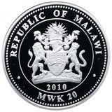 20 квача 2010, серебро (Ag 999) | Парад Победы — Малави, фото 1
