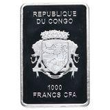 1000 франков 2015, серебро (Ag 925) | Счастливый малыш — Конго, фото 1