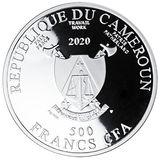500 франков 2019, серебро (Ag 999) | Любовь — Камерун, фото 1