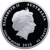 50 центов 2010, серебро (Ag 999) | Сахарная сумчатая летяга — Австралия, фото 1