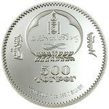 500 тугриков 2005, серебро (Ag 999) | Сумо. Оуноматсу — Монголия, фото 1