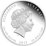30 долларов 2013, серебро (Ag 999)   Год Змеи — Австралия, фото 1