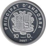 10 динеров 2007, серебро (Ag 925) | Экстрим: горный велосипед — Андорра, фото 1