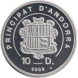 10 динеров 2008, серебро (Ag 925) | Экстрим: мотофристайл — Андорра, фото 1