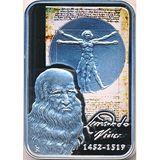 10 динеров 2008, серебро (Ag 925) | Художники мира: Леонардо да Винчи — Андорра, фото 1