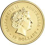 15 долларов 2003, золото (Au 999) | Год Козы — Австралия, фото 1
