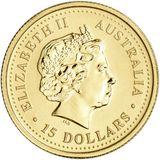 15 долларов 2004, золото (Au 999) | Год Обезьяны — Австралия, фото 1