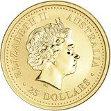 25 долларов 2004, золото (Au 999) | Год Обезьяны — Австралия, фото 1