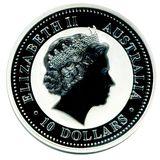 10 долларов 2005, серебро (Ag 999)   Год Петуха (цветная) — Австралия, фото 1